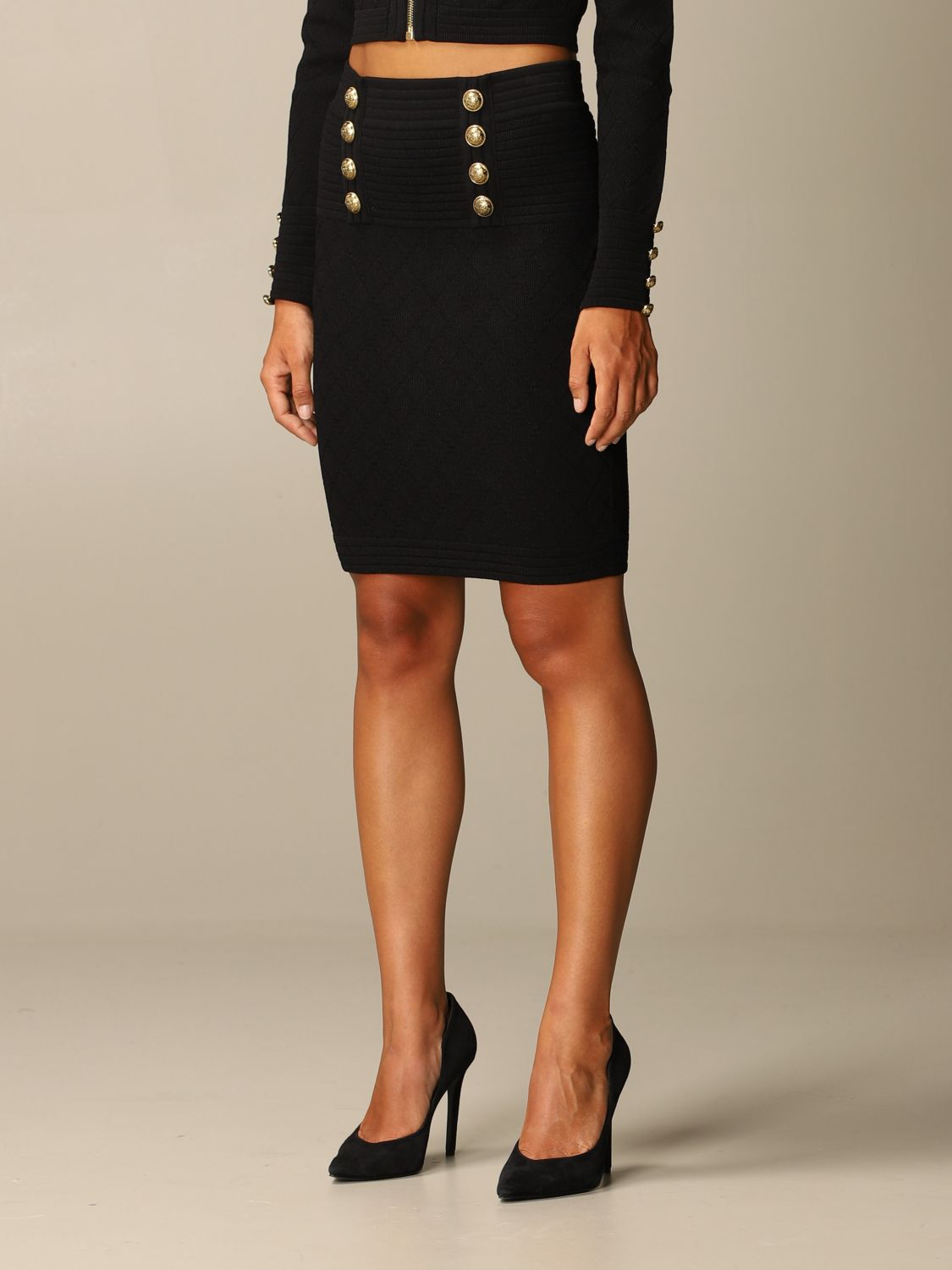 Skirt Balmain: Skirt women Balmain black 4