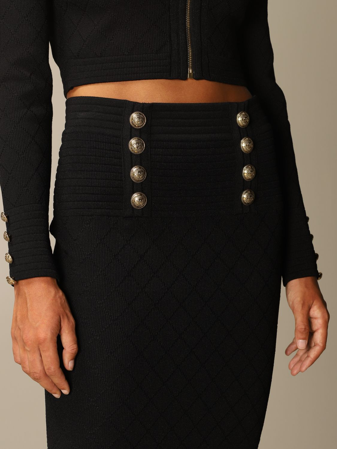 Skirt Balmain: Skirt women Balmain black 5
