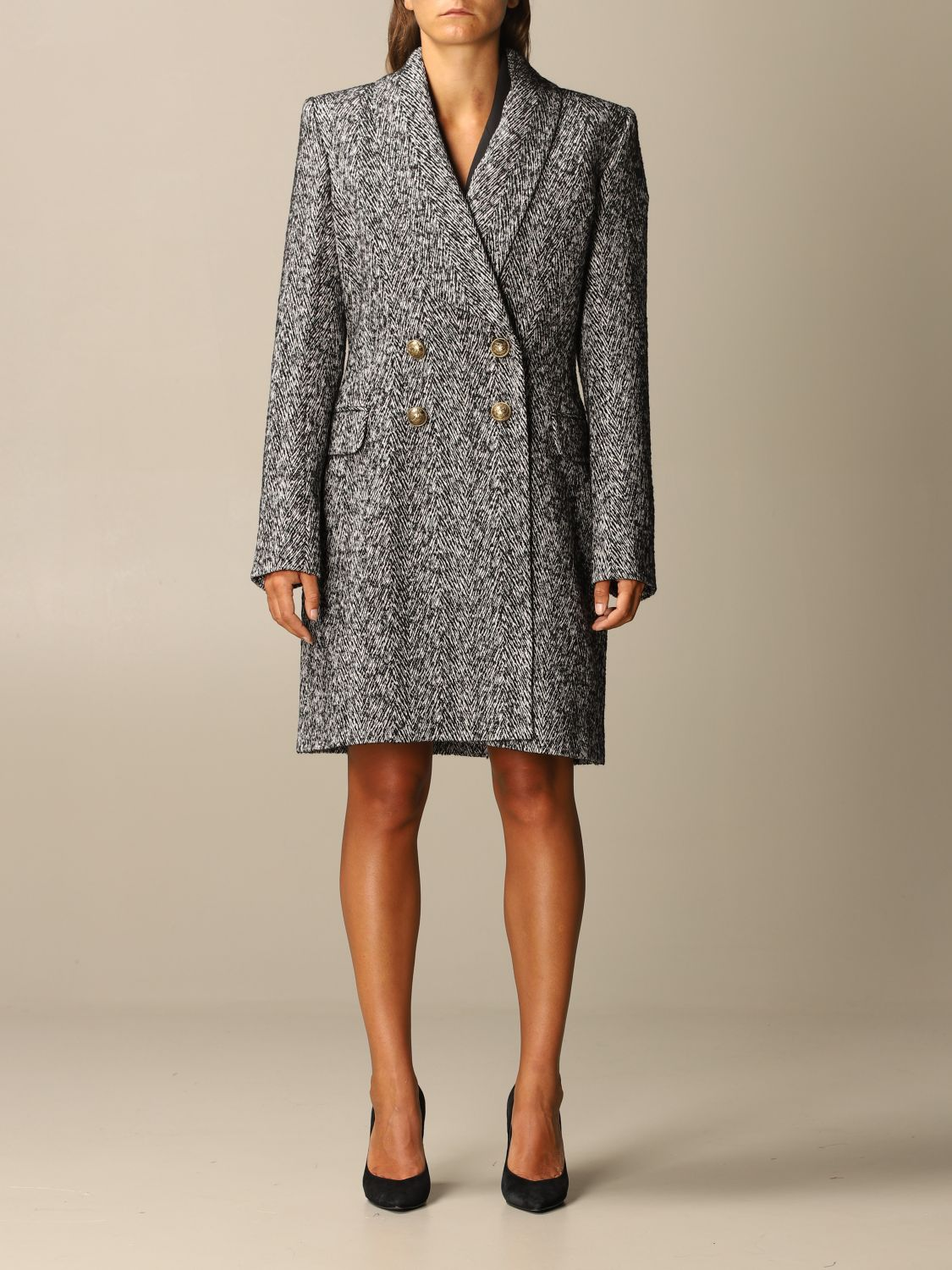 Coat Balmain: Coat women Balmain grey 1