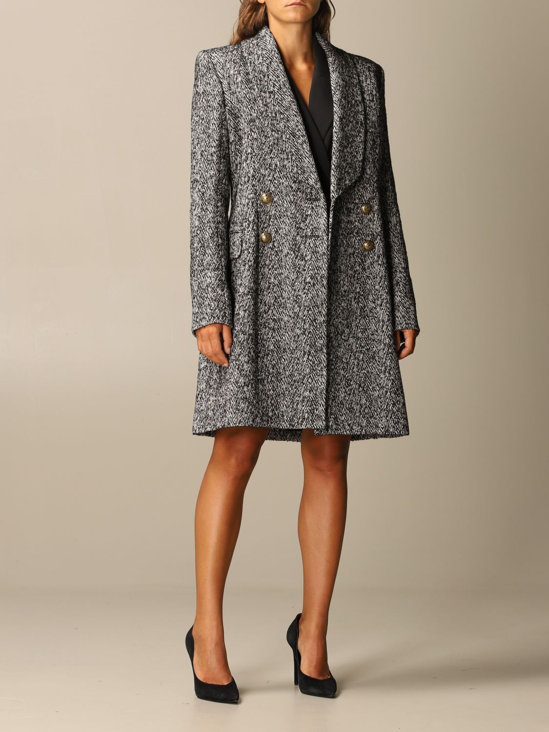 Coat Balmain: Coat women Balmain grey 2