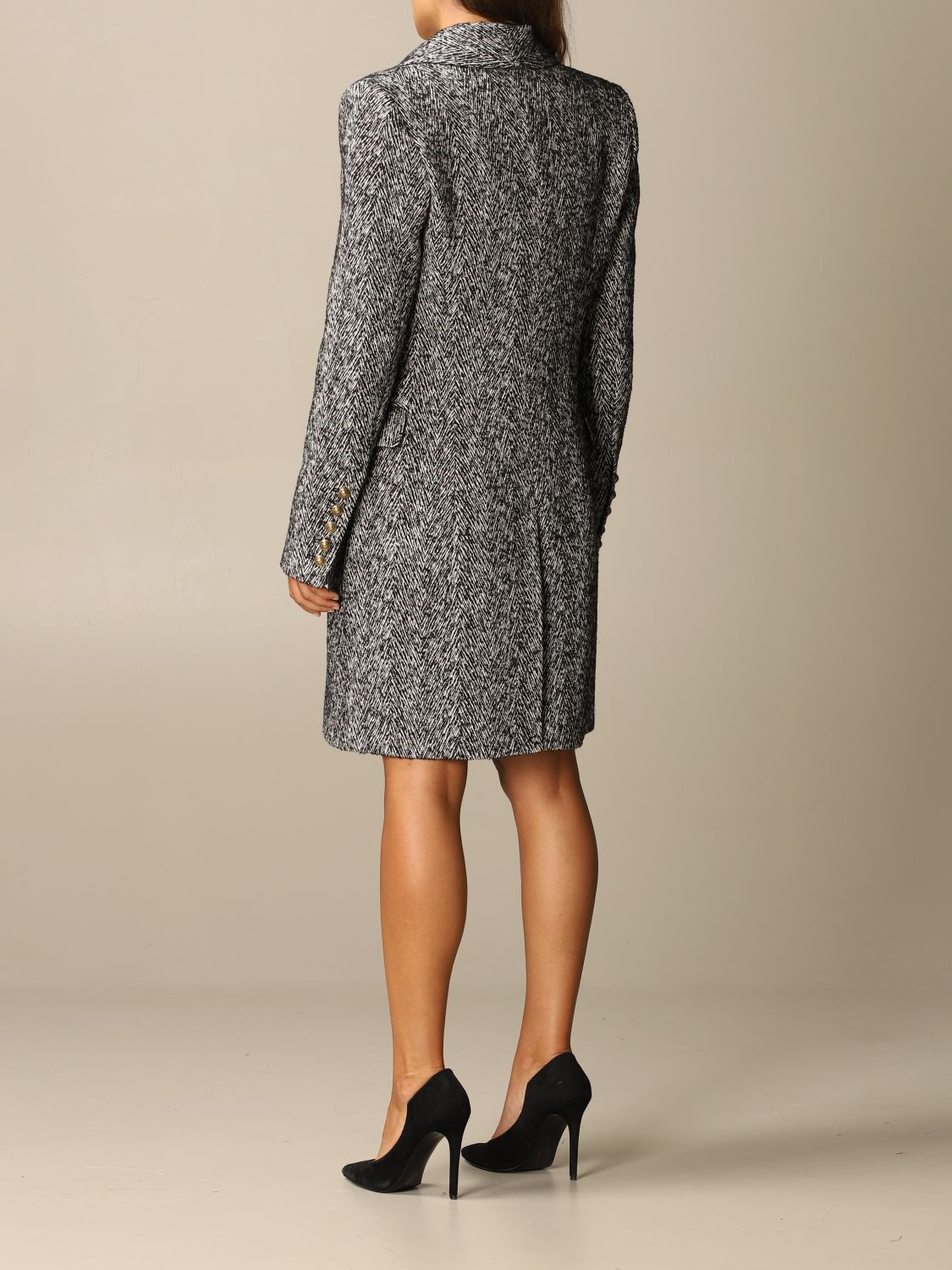 Coat Balmain: Coat women Balmain grey 3