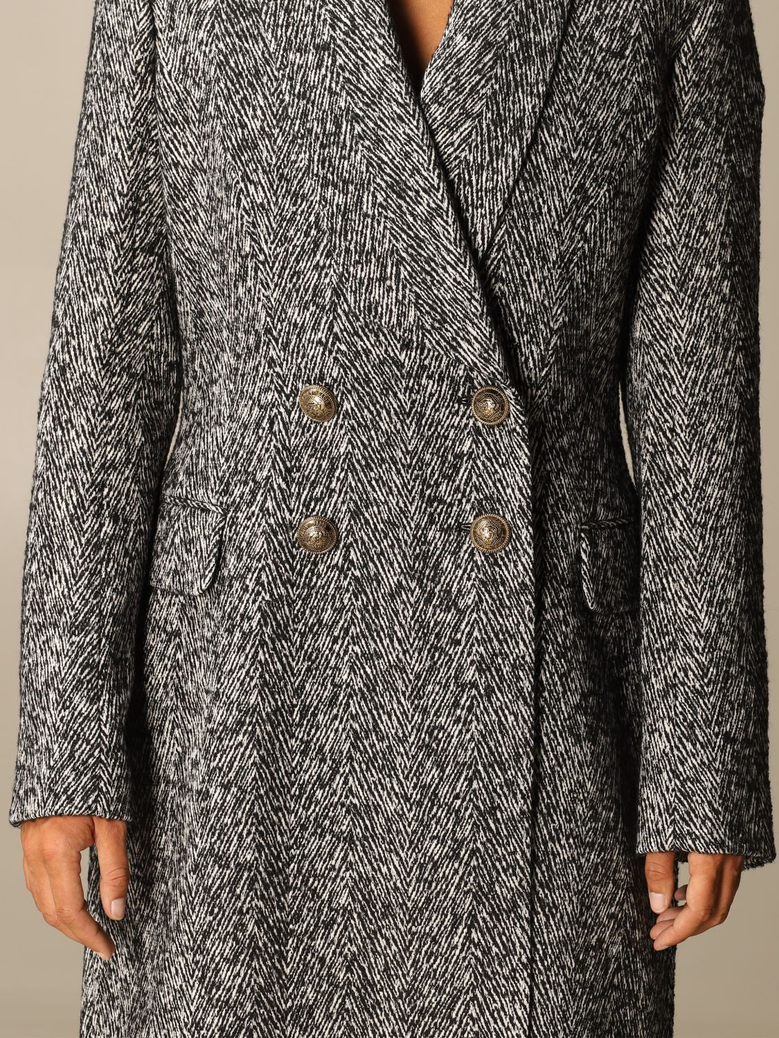 Coat Balmain: Coat women Balmain grey 5