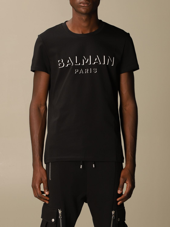 Футболка Balmain: Футболка Мужское Balmain серый 1