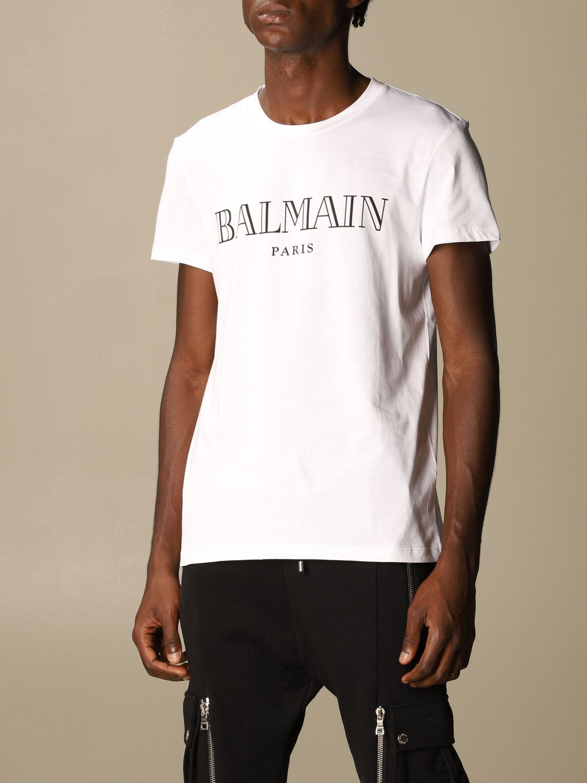 T-shirt Balmain: T-shirt men Balmain white 4