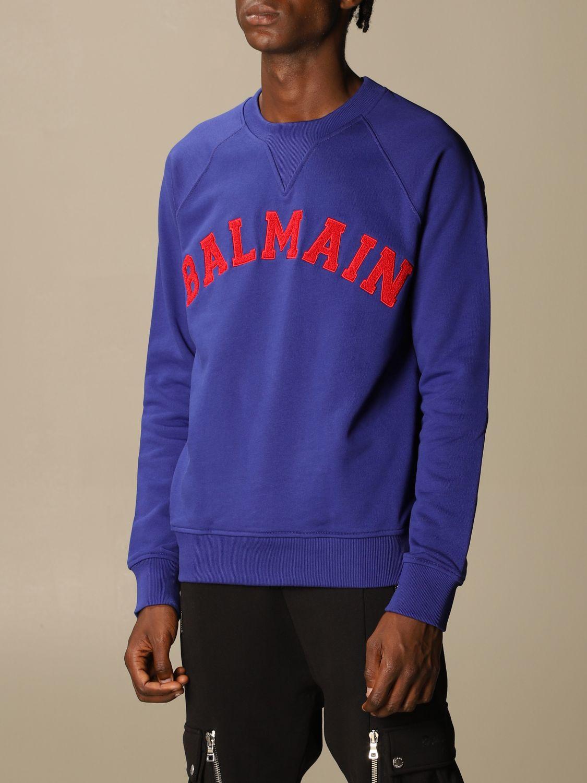 Толстовка Balmain: Толстовка Мужское Balmain синий 4