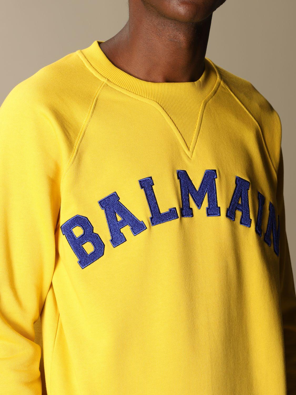 Толстовка Balmain: Толстовка Мужское Balmain охра 5