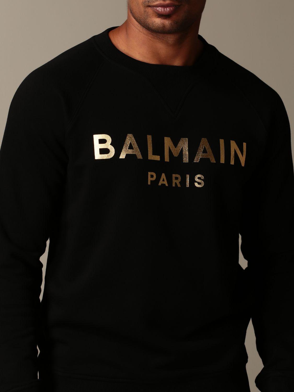 Толстовка Balmain: Толстовка Мужское Balmain черный 4