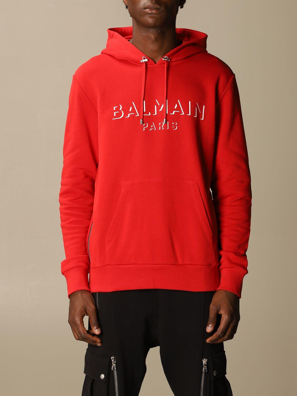 Толстовка Balmain: Толстовка Мужское Balmain красный 1