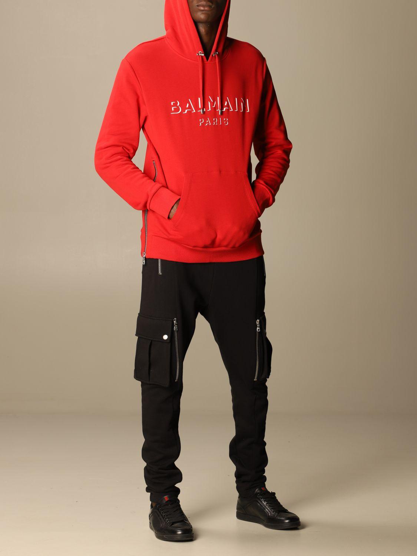 Толстовка Balmain: Толстовка Мужское Balmain красный 2
