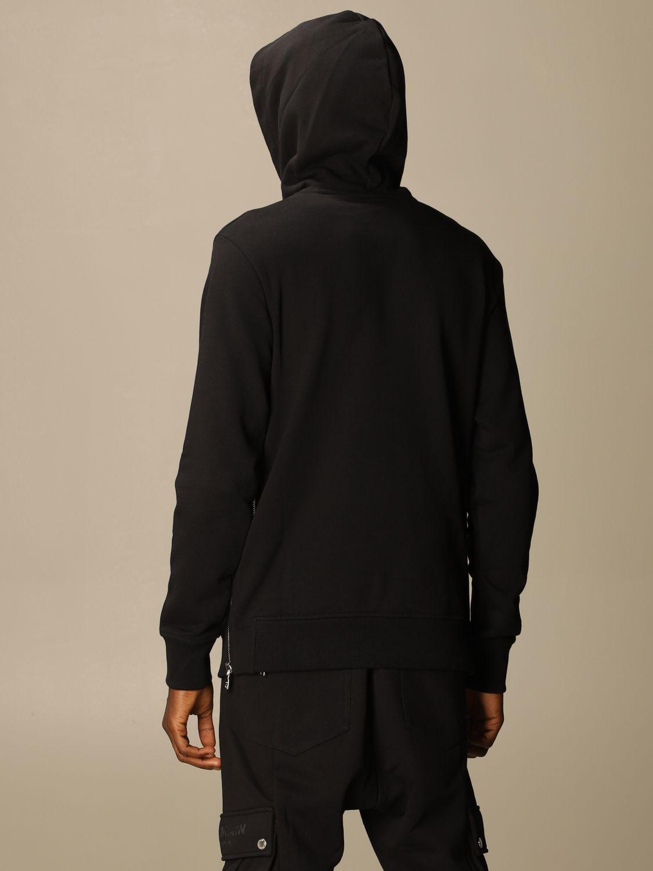 Sweatshirt Balmain: Balmain cotton sweatshirt with hood and logo black 3
