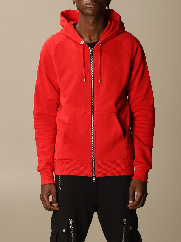 Sweatshirt Balmain: Sweatshirt men Balmain red 1