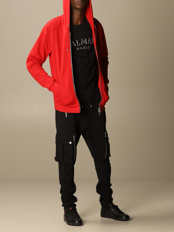 Sweatshirt Balmain: Sweatshirt men Balmain red 2