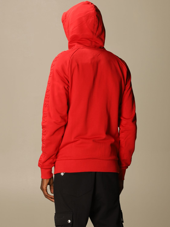 Sweatshirt Balmain: Sweatshirt men Balmain red 3
