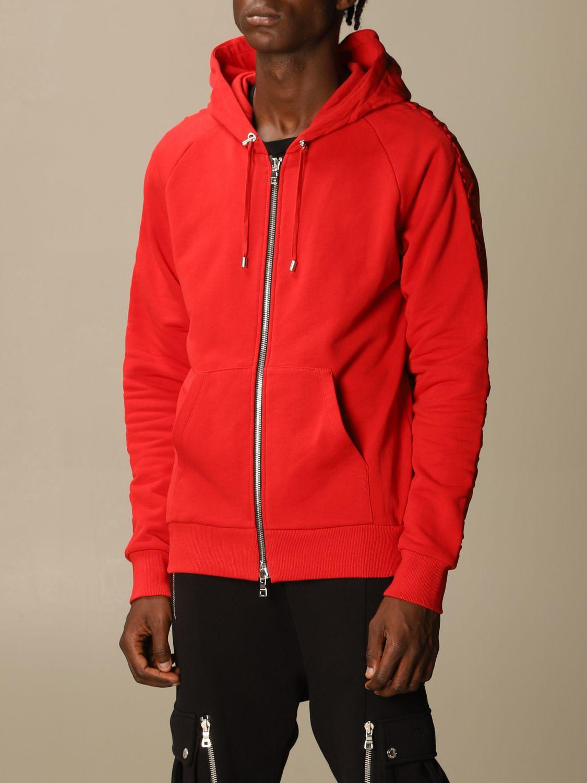 Sweatshirt Balmain: Sweatshirt men Balmain red 4