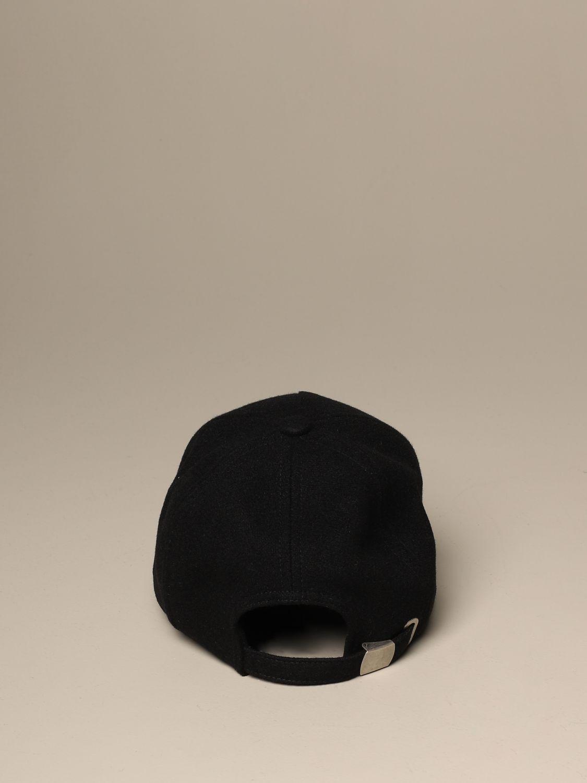 Hat Balmain: Balmain wool baseball cap black 3