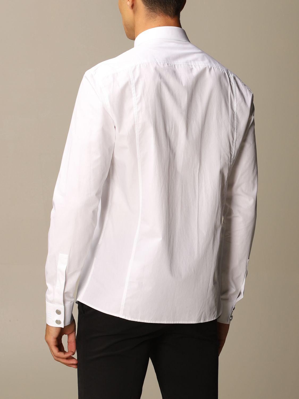 Shirt Balmain: Balmain shirt with Italian collar and rhinestone plastron white 2