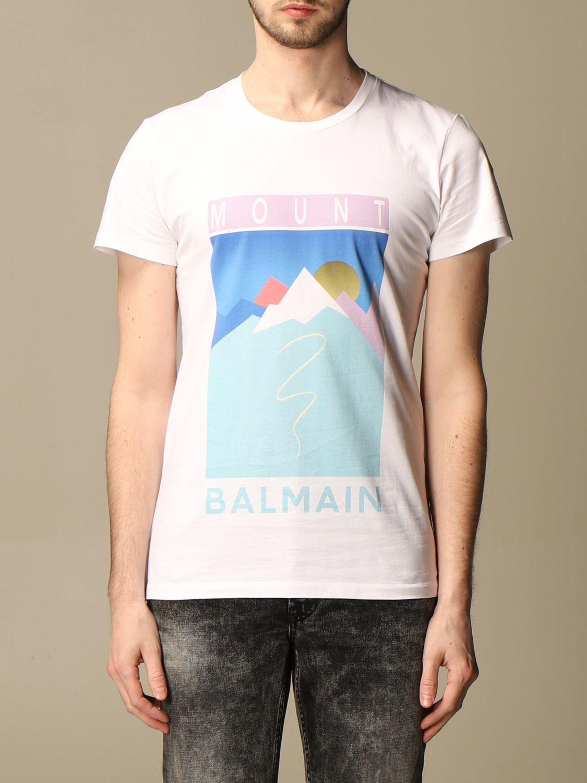 T-shirt Balmain: T-shirt homme Balmain blanc 1