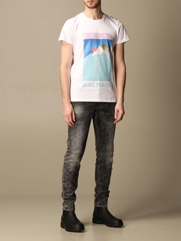 T-shirt Balmain: T-shirt homme Balmain blanc 2