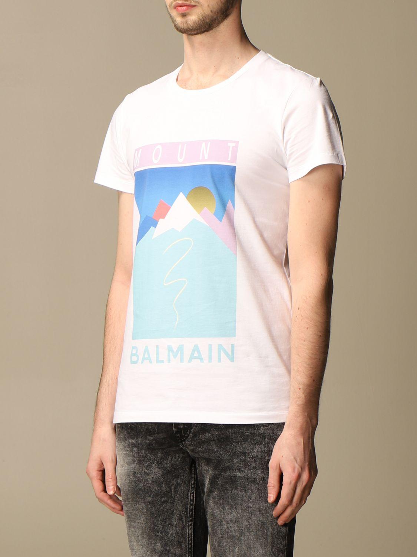 T-shirt Balmain: T-shirt homme Balmain blanc 4