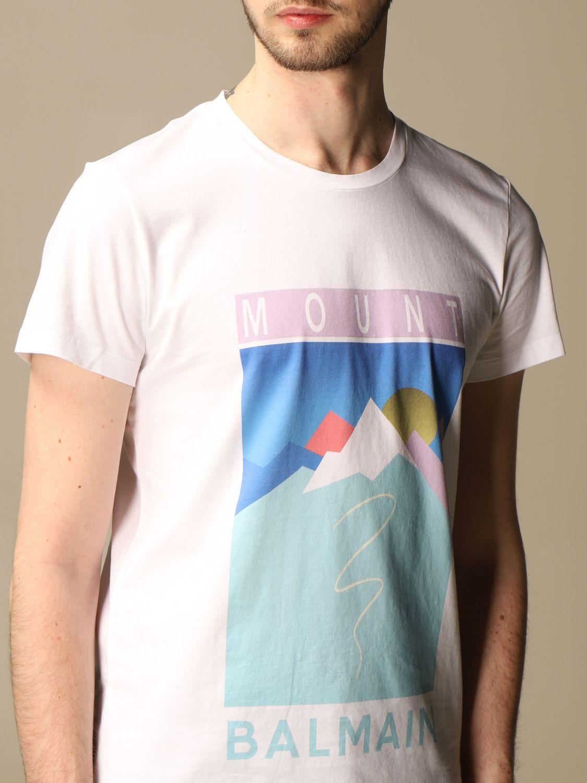 T-shirt Balmain: T-shirt homme Balmain blanc 5