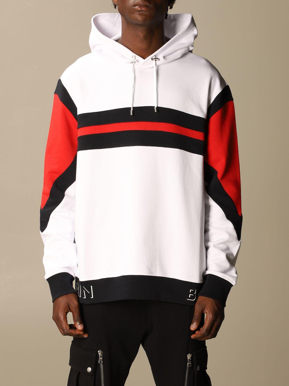 Sweatshirt Balmain: Balmain sweatshirt with logo and hood white 1