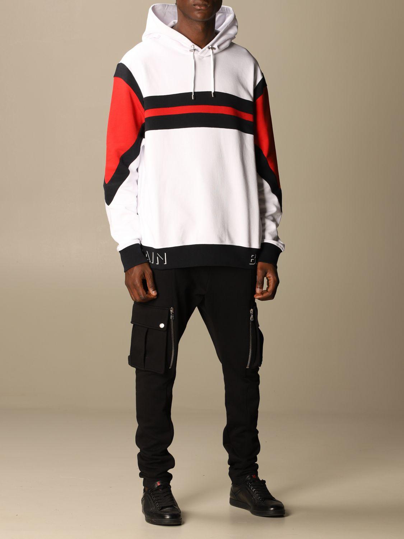 Sweatshirt Balmain: Balmain sweatshirt with logo and hood white 2