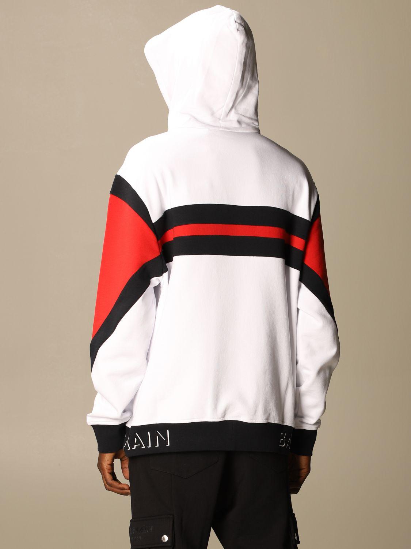 Sweatshirt Balmain: Balmain sweatshirt with logo and hood white 3