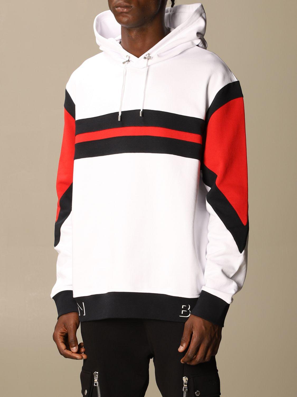 Sweatshirt Balmain: Balmain sweatshirt with logo and hood white 4