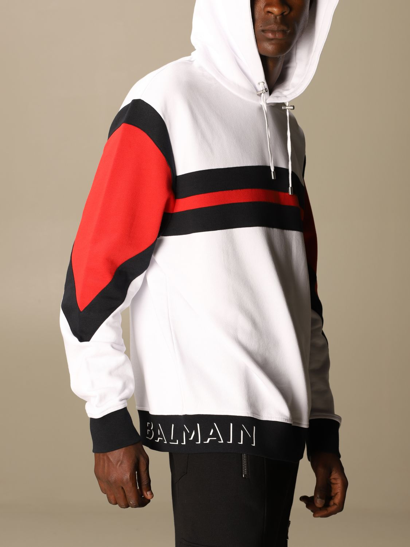 Sweatshirt Balmain: Balmain sweatshirt with logo and hood white 5
