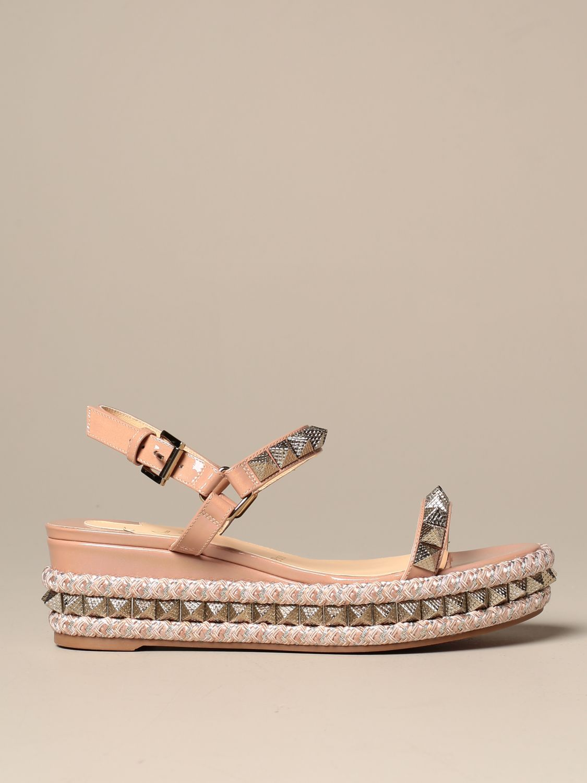 Heeled sandals Christian Louboutin: Shoes women Christian Louboutin nude 1