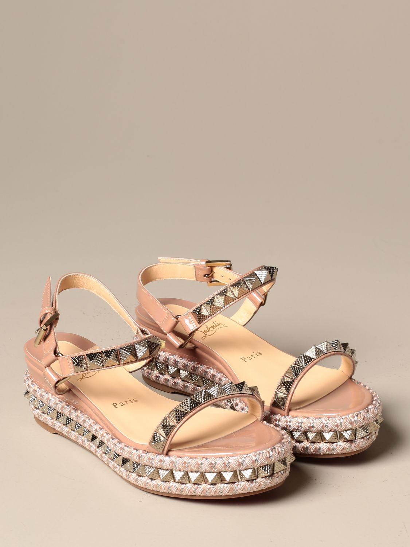 Heeled sandals Christian Louboutin: Shoes women Christian Louboutin nude 2