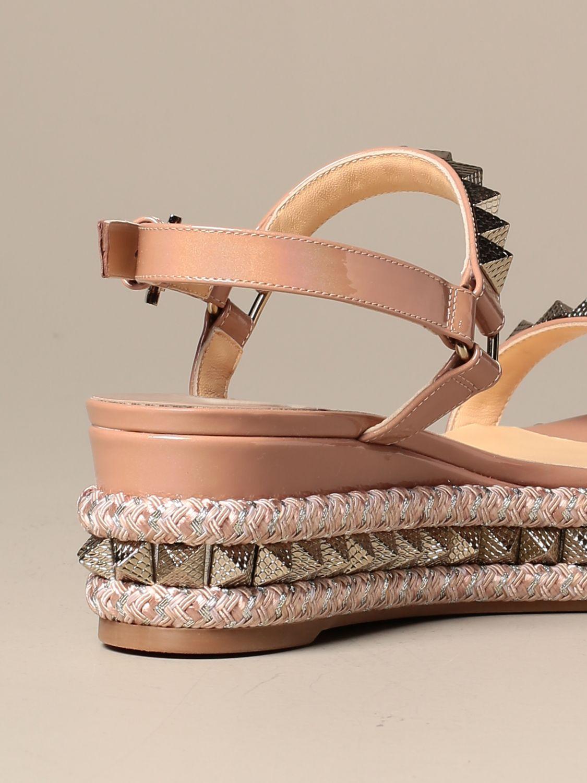 Heeled sandals Christian Louboutin: Shoes women Christian Louboutin nude 3