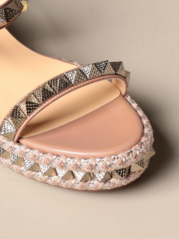 Heeled sandals Christian Louboutin: Shoes women Christian Louboutin nude 4