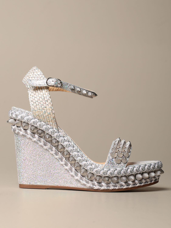 Heeled sandals Christian Louboutin: Shoes women Christian Louboutin silver 1