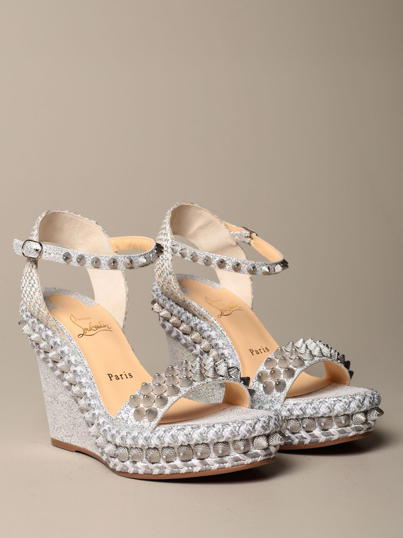 Heeled sandals Christian Louboutin: Shoes women Christian Louboutin silver 2