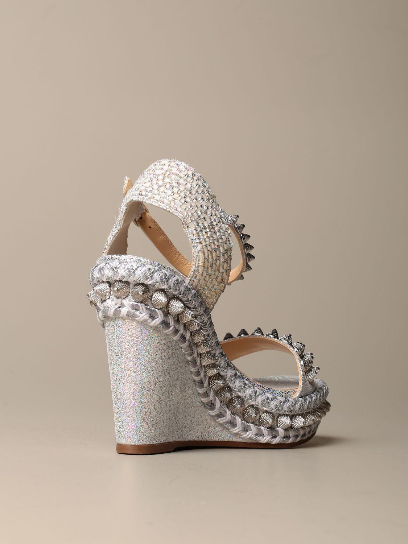 Heeled sandals Christian Louboutin: Shoes women Christian Louboutin silver 3
