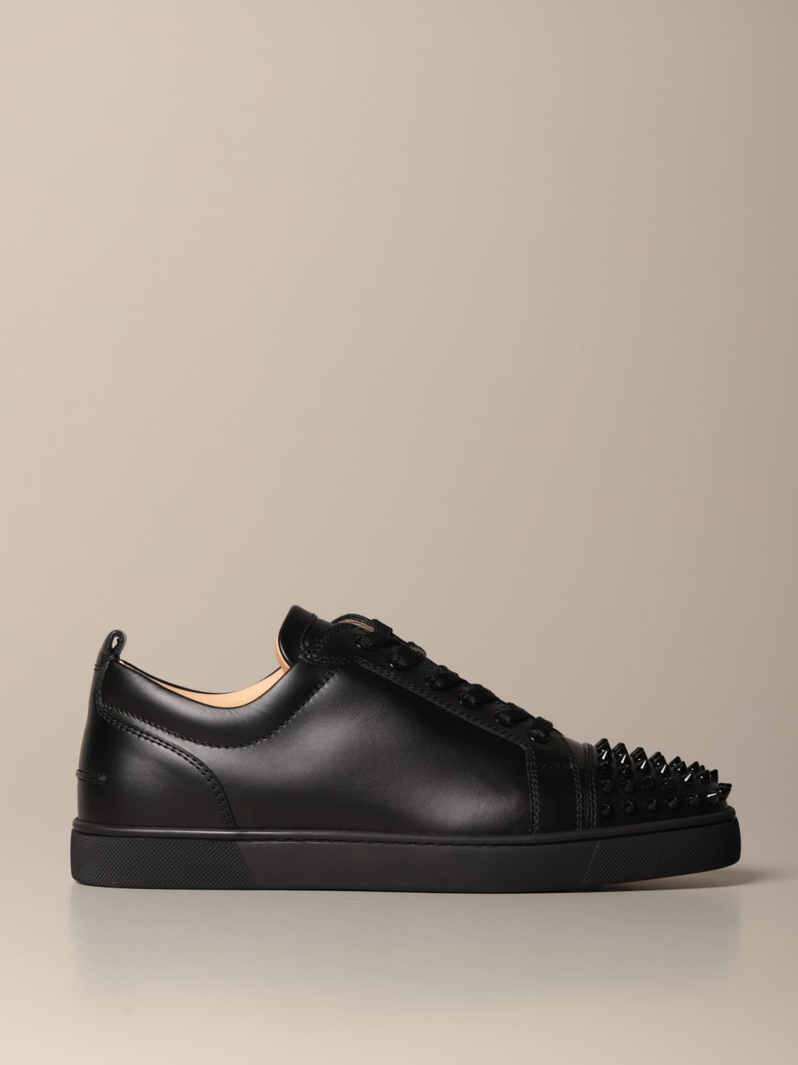 Sneakers Christian Louboutin: Christian Louboutin Louis Junior sneakers in studded leather black 1