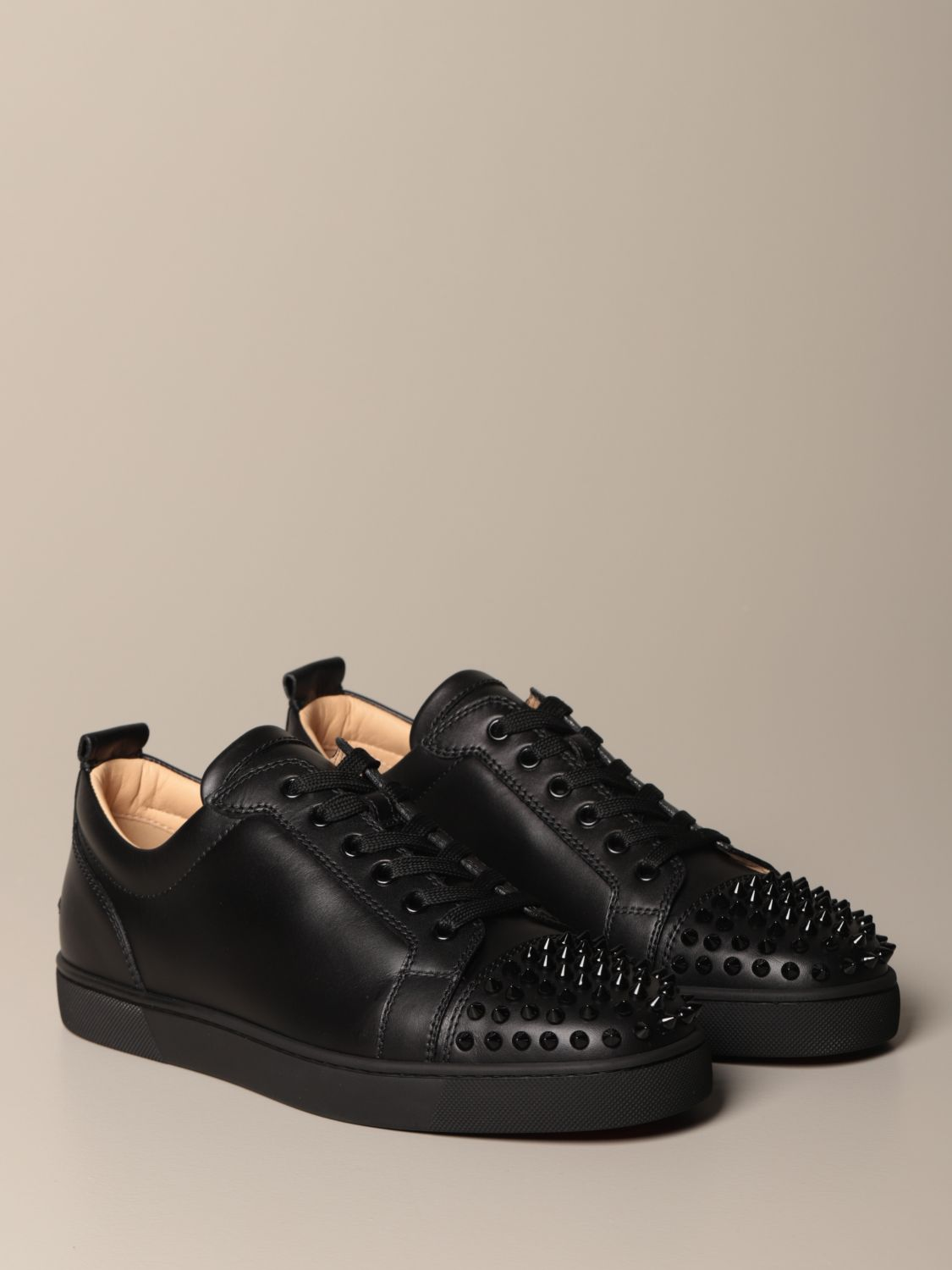 Sneakers Christian Louboutin: Christian Louboutin Louis Junior sneakers in studded leather black 2