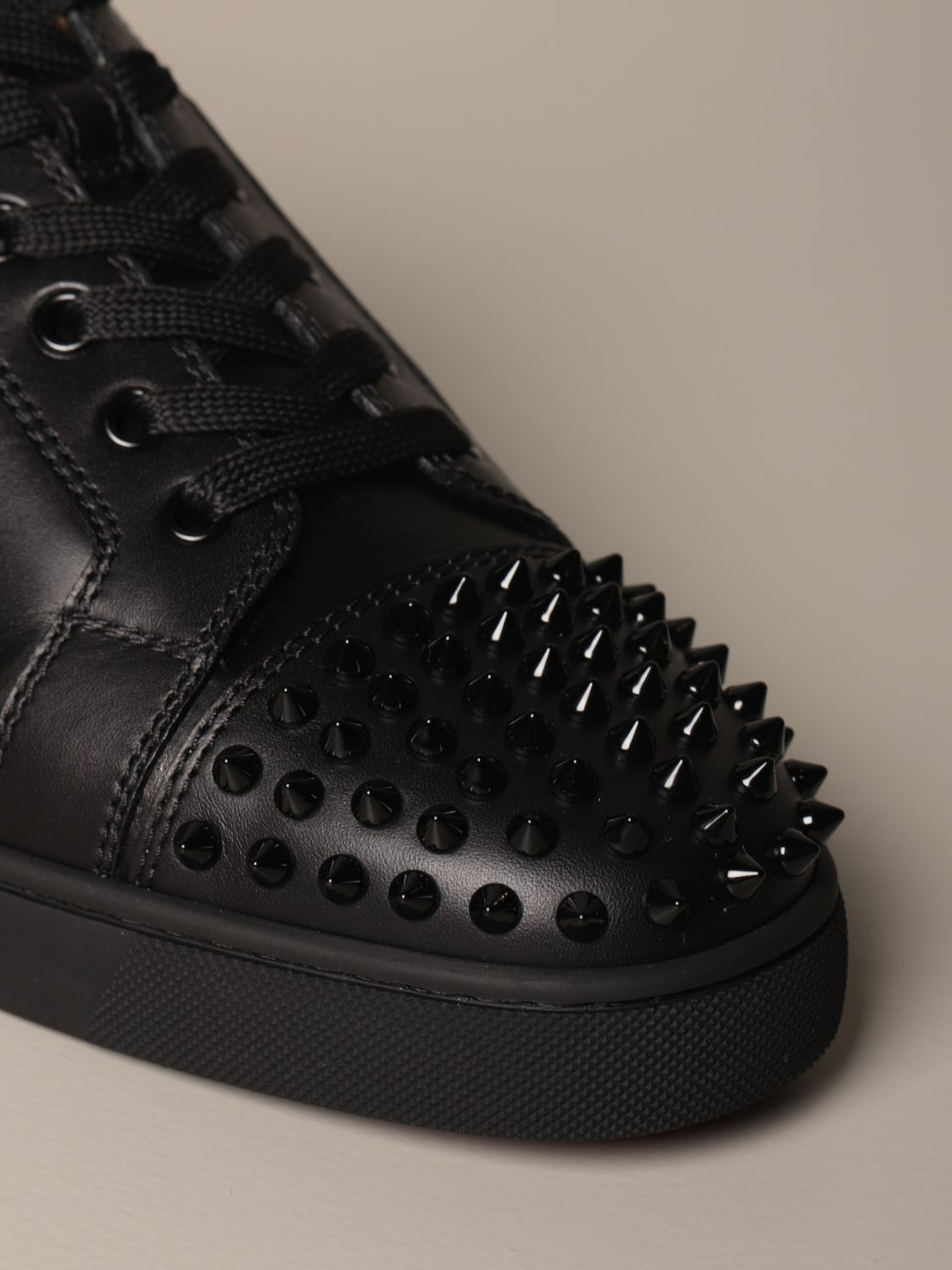 Sneakers Christian Louboutin: Christian Louboutin Louis Junior sneakers in studded leather black 4