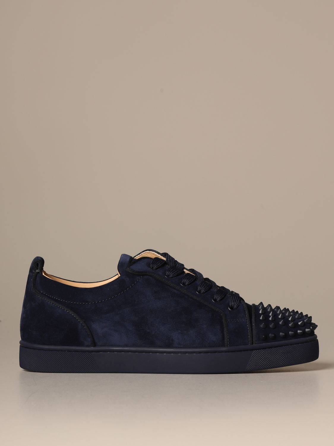 Sneakers Christian Louboutin: Louis Junior Christian Louboutin sneakers in suede with studs blue 1