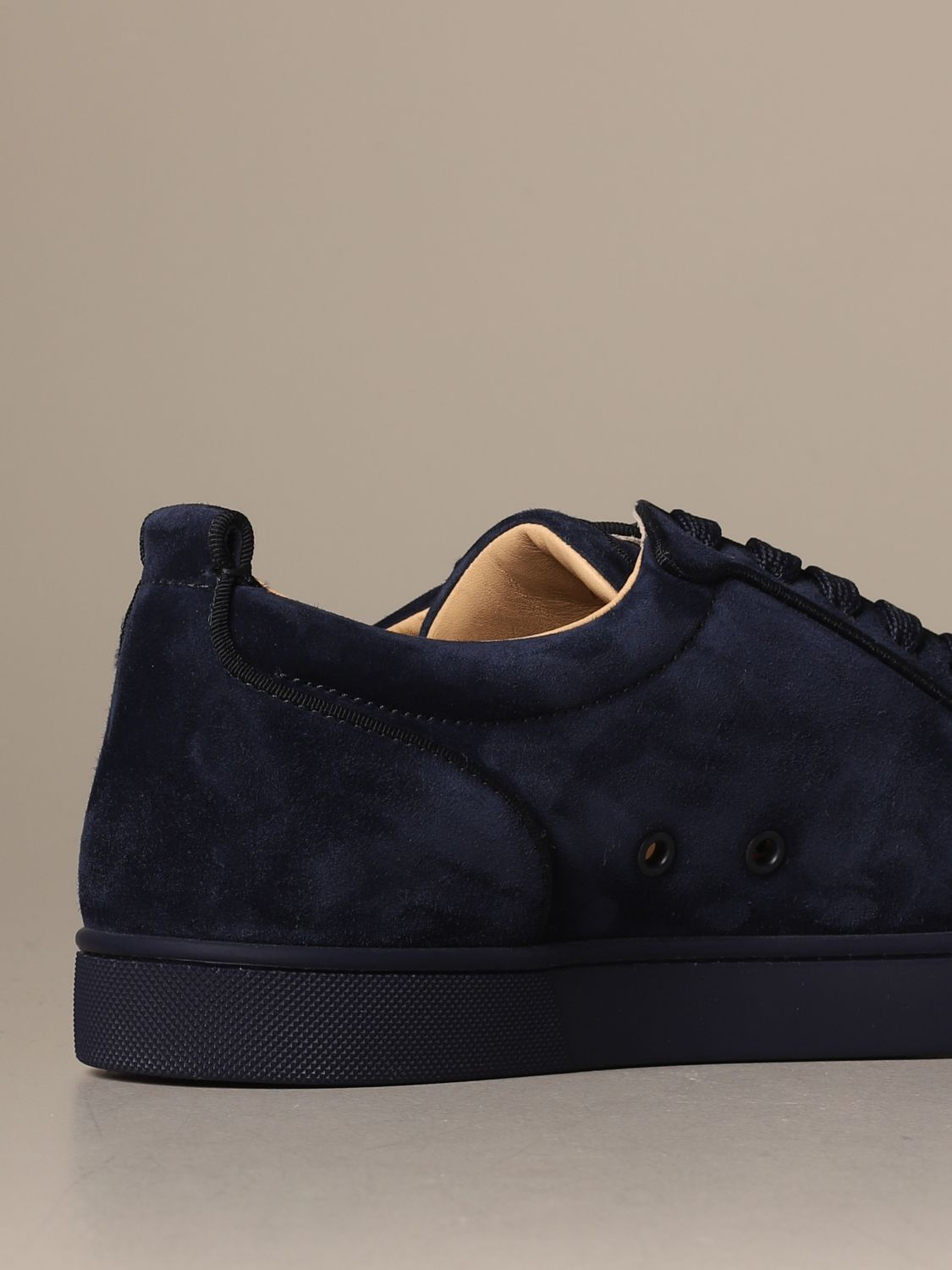 Sneakers Christian Louboutin: Louis Junior Christian Louboutin sneakers in suede with studs blue 3