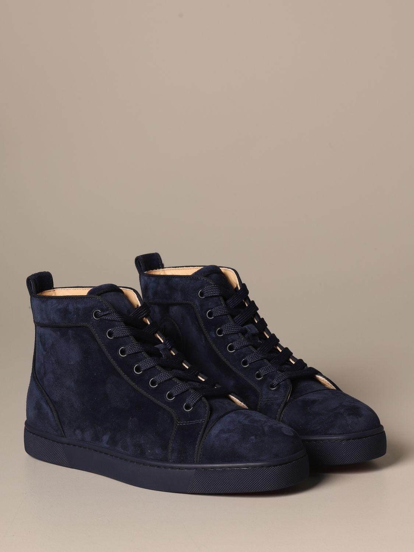 马球靴 Christian Louboutin: 鞋 男士 Christian Louboutin 蓝色 2