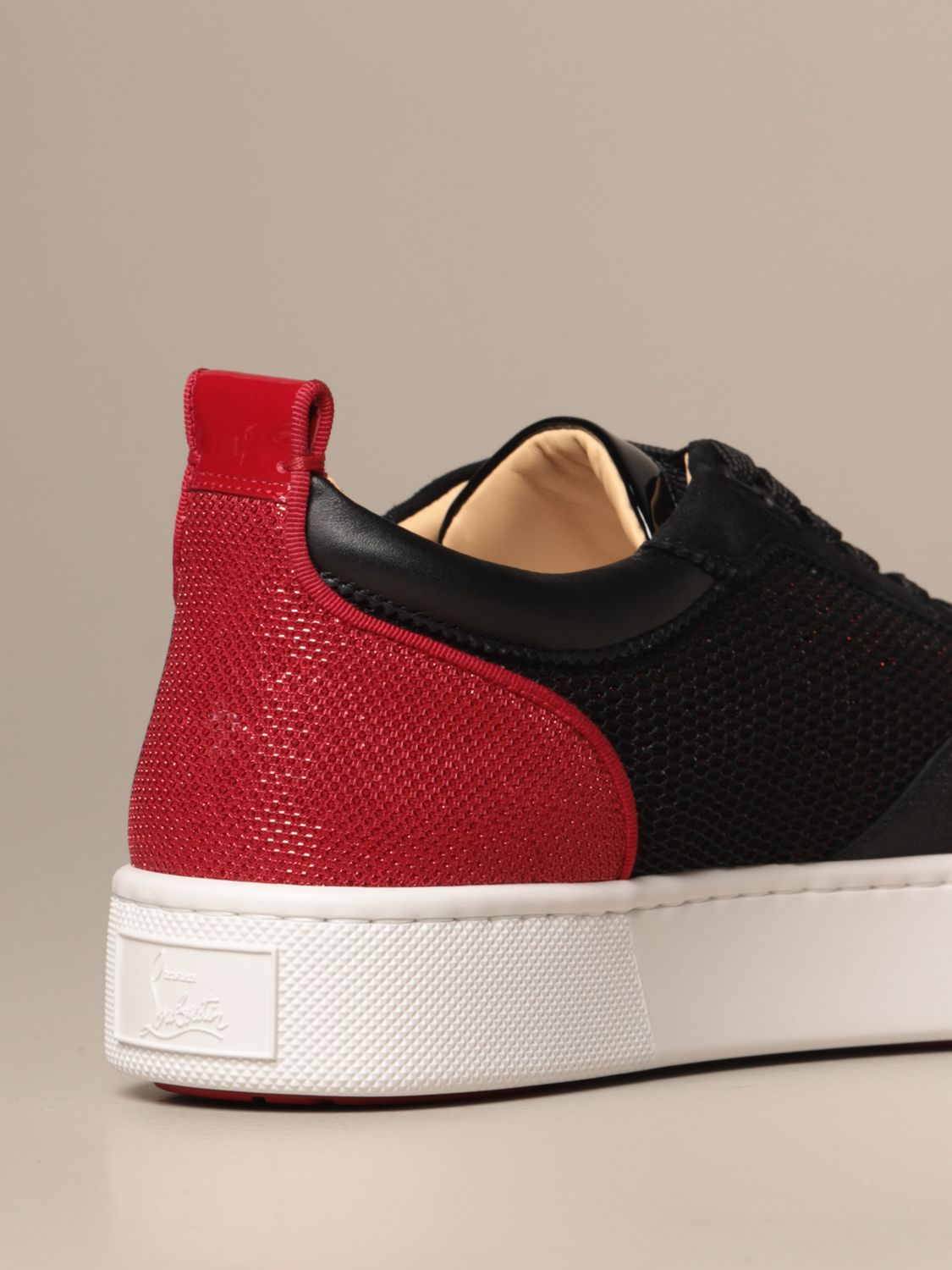 Sneakers Christian Louboutin: Happy rui Christian Louboutin sneakers in suede leather and two-tone mesh black 3