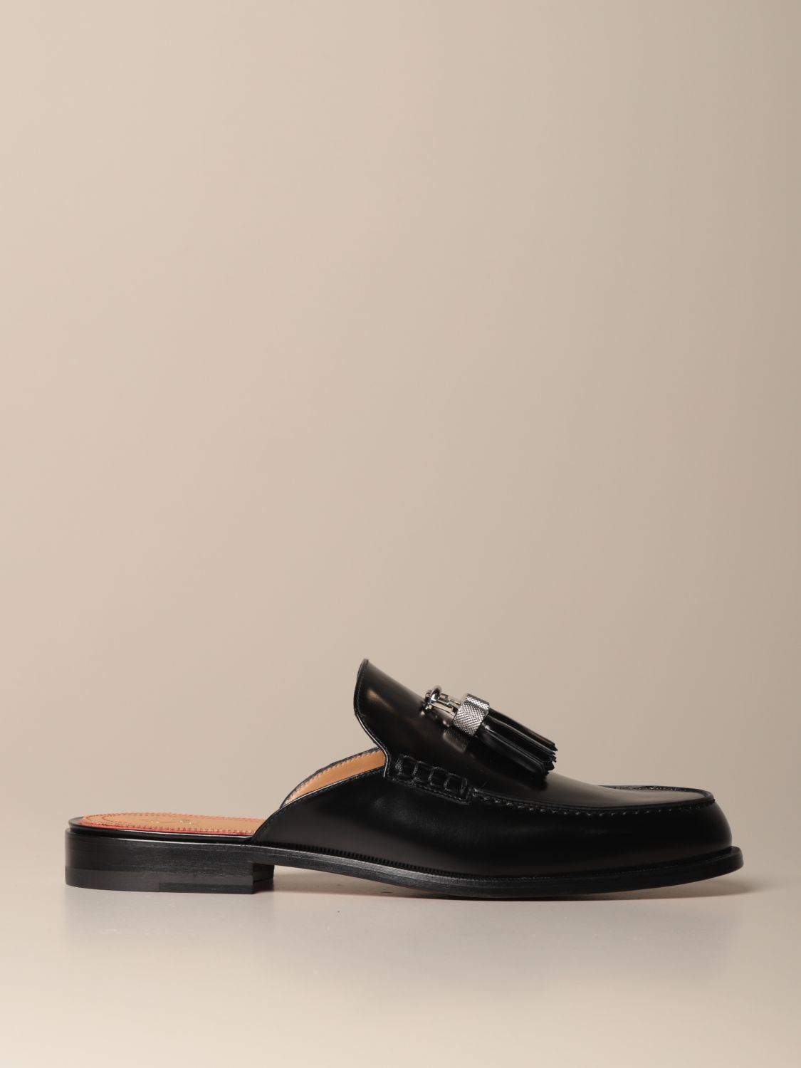 Loafers Christian Louboutin: Rivaslide Christian Louboutin loafer in leather with tassels black 1