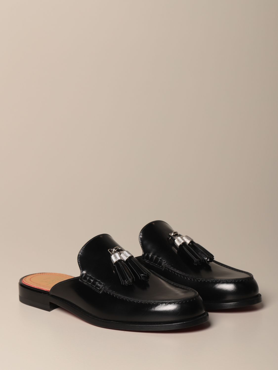 Loafers Christian Louboutin: Rivaslide Christian Louboutin loafer in leather with tassels black 2