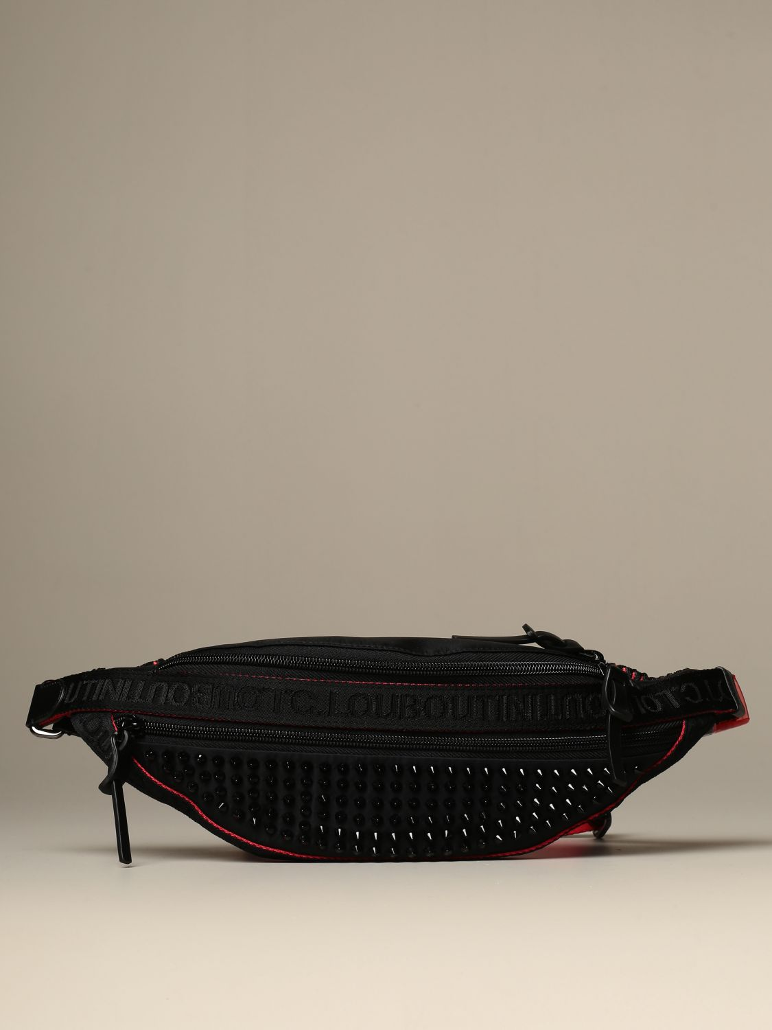Belt bag Christian Louboutin: Parisnyc Christian Louboutin pouch in nylon with studs black 1