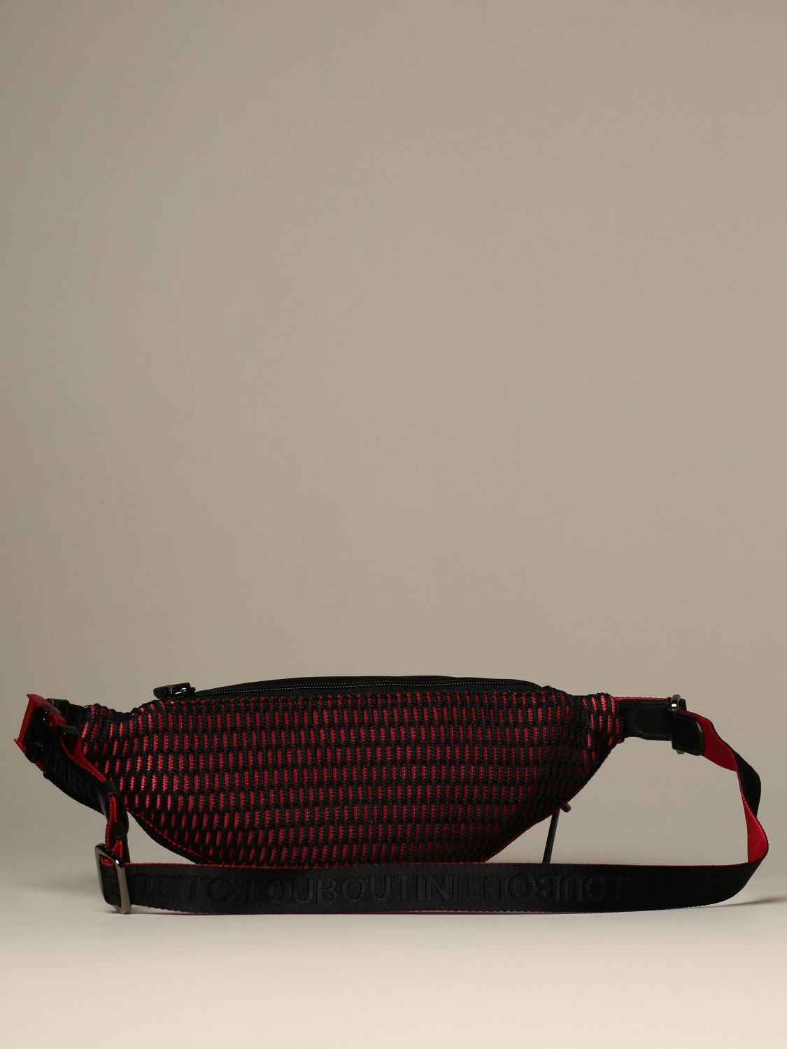 Belt bag Christian Louboutin: Parisnyc Christian Louboutin pouch in nylon with studs black 2