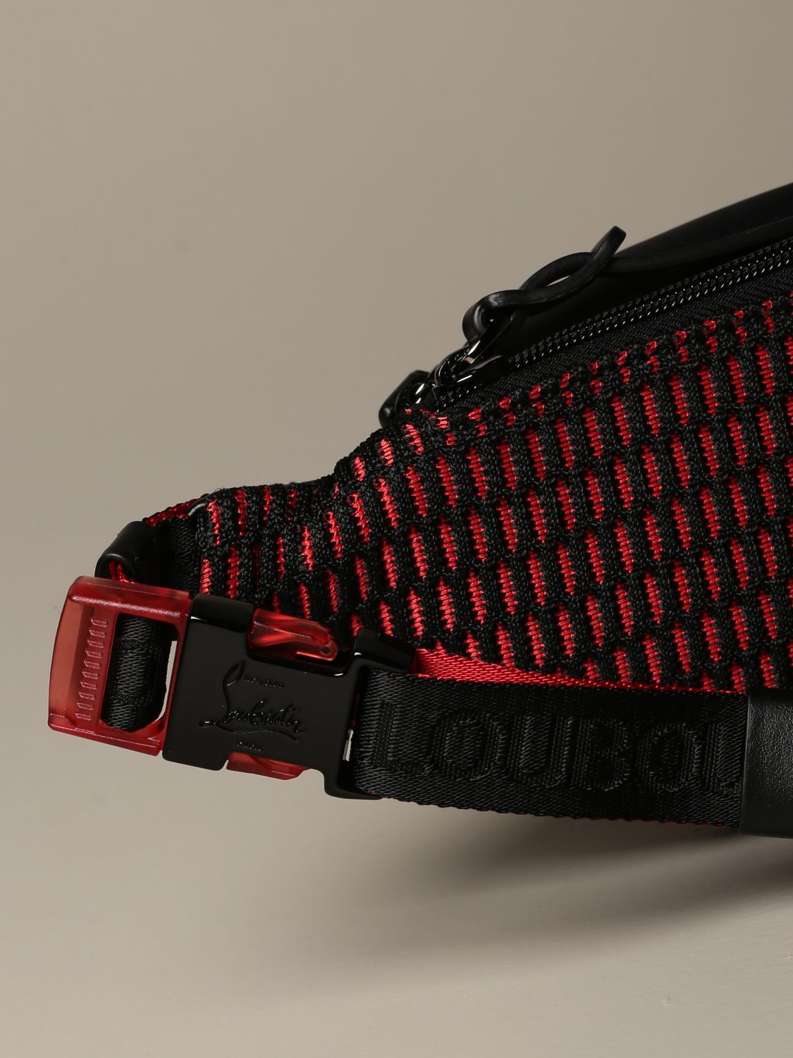 Belt bag Christian Louboutin: Parisnyc Christian Louboutin pouch in nylon with studs black 3