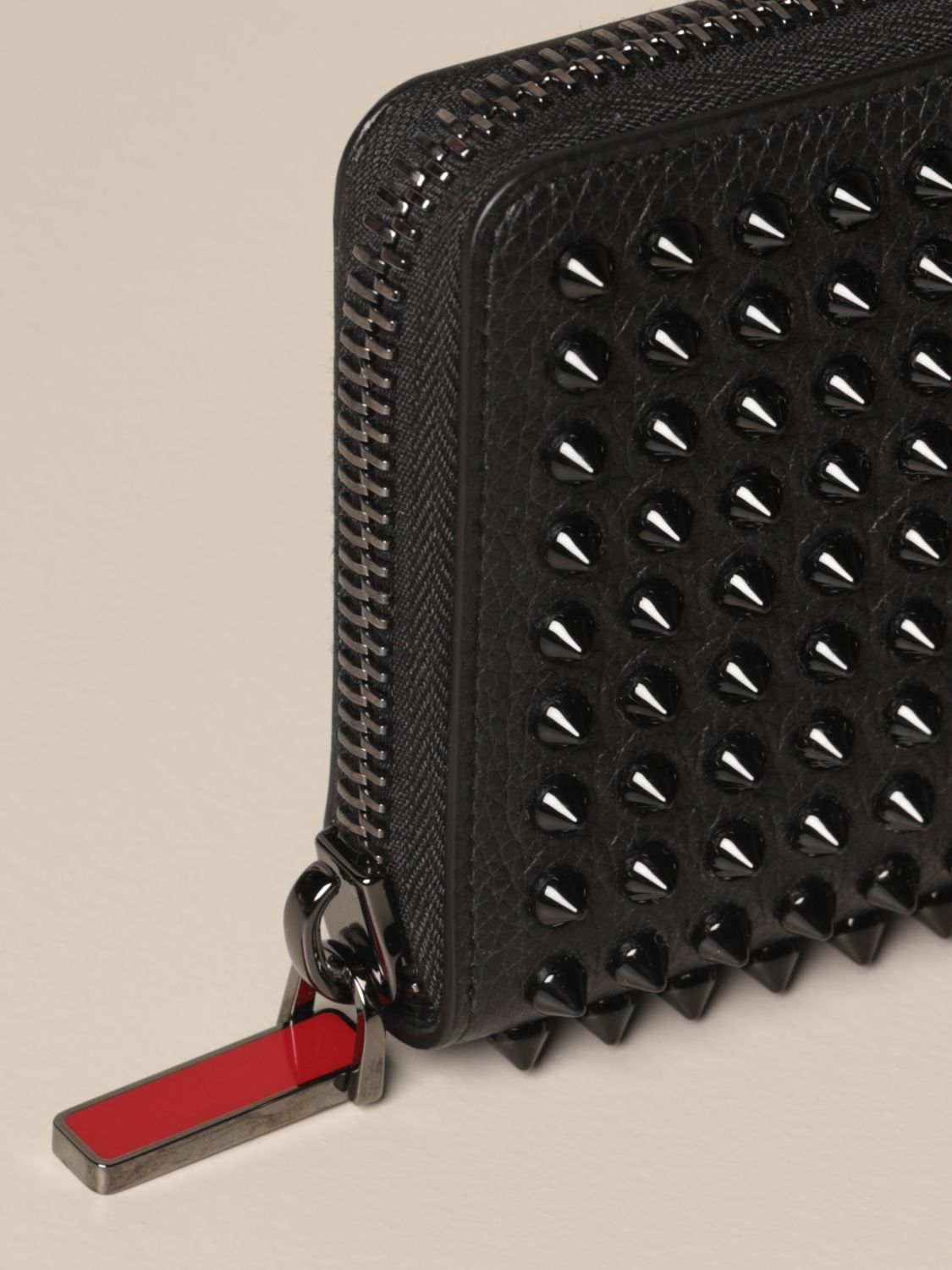Wallet Christian Louboutin: Panettone Christian Louboutin wallet with all over studs black 4