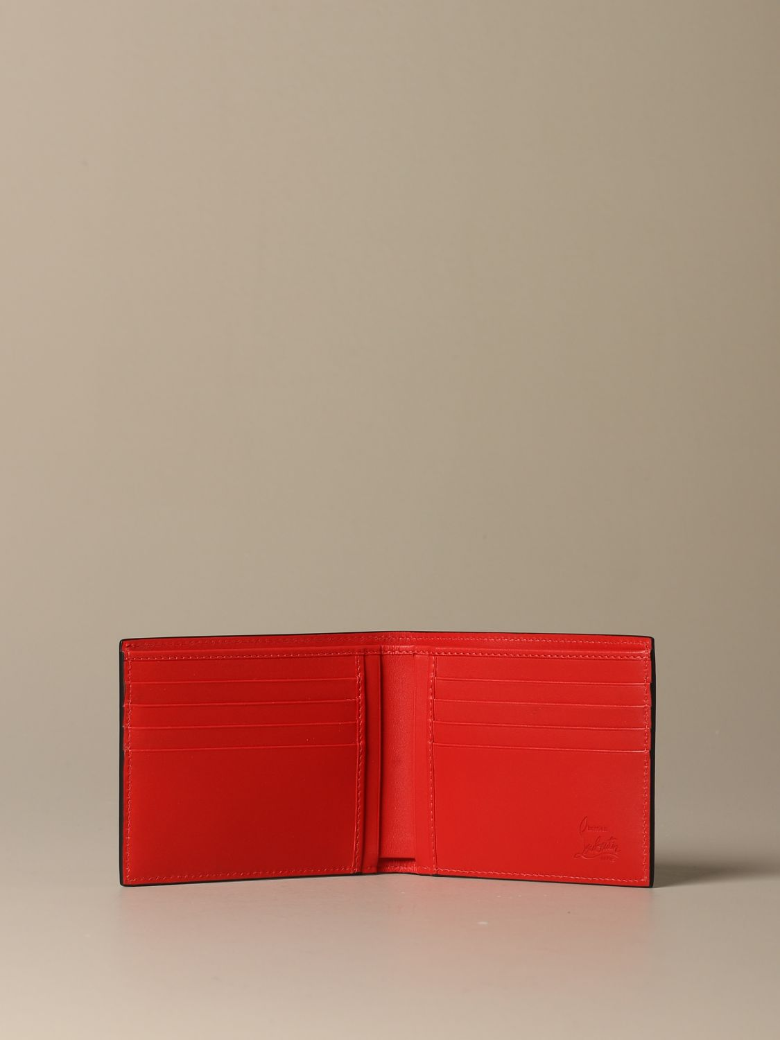 Wallet Christian Louboutin: Christian Louboutin Coolcard wallet in leather with logo black 2